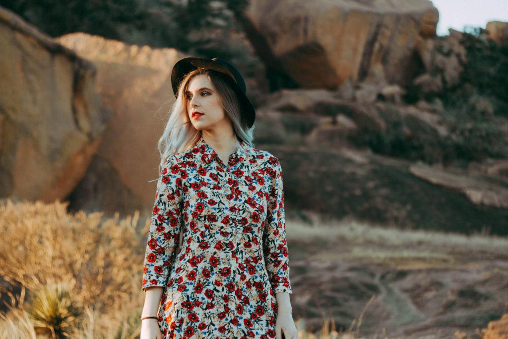 Enchanted Rock Texas Portrait Photoshoot Boho Girl