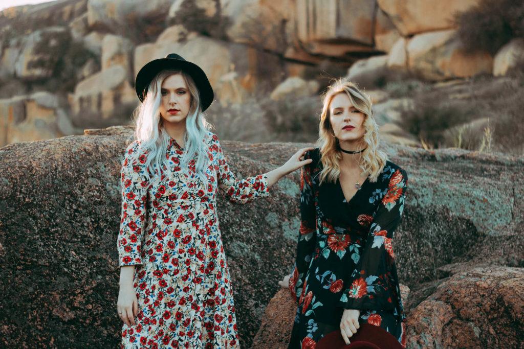 Enchanted Rock Tx Portrait Photoshoot Two Boho Girls