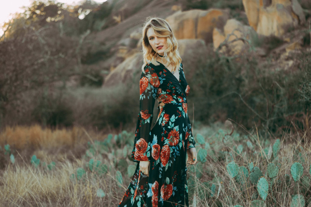 Enchanted Rock Texas Portrait Photoshoot Boho Girl