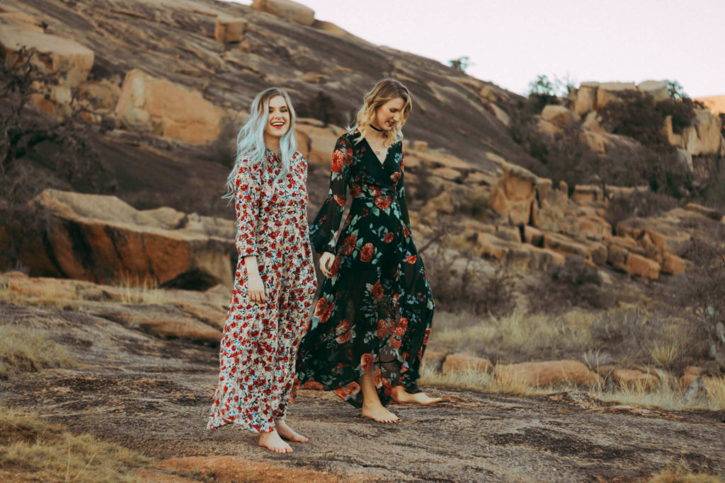 Enchanted Rock Tx Portrait Photoshoot boho girls