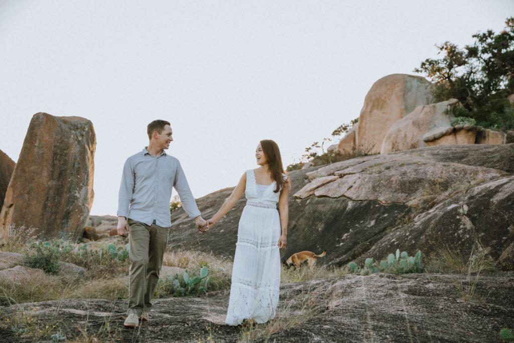 Enchanted Rock Texas Engagement Photoshoot