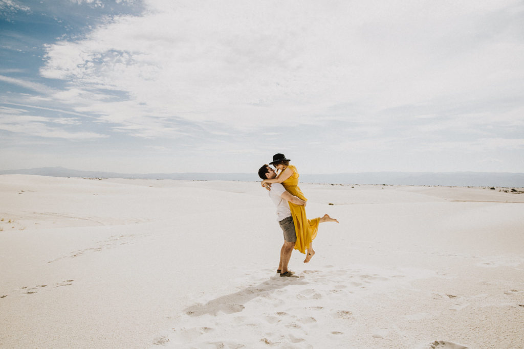 White Sands Engagement Photoshoot